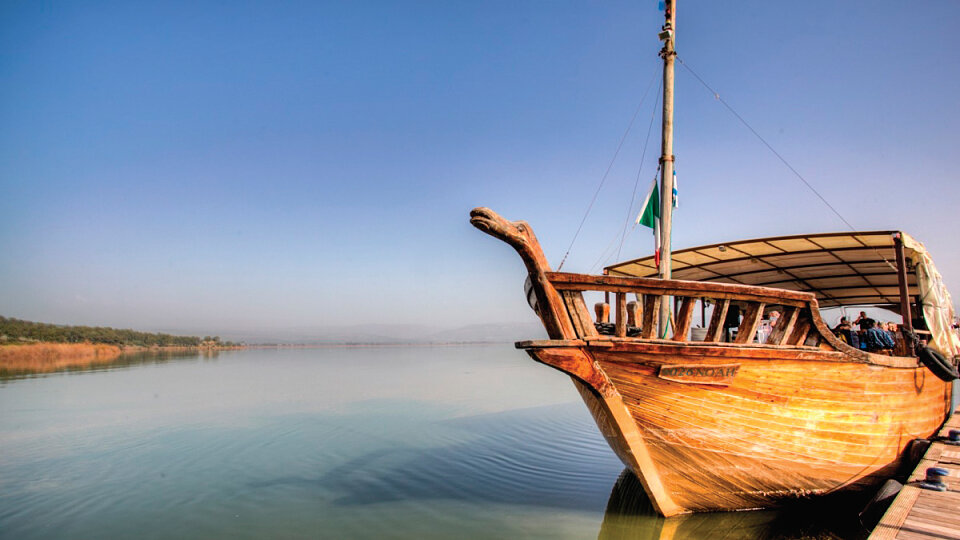 boat on the sea of galilee1